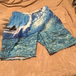 Newport Blue Mens swim trunks